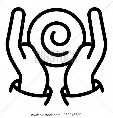 Hands Hypnosis Icon. Outline Hands Hypnosis Vector Icon For Web Design Isolated On White Background