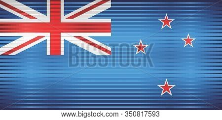 Shiny Grunge Flag Of The New Zealand - Illustration,  Three Dimensional Flag Of New Zealand