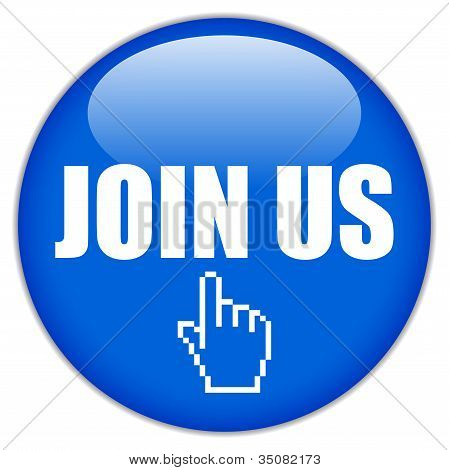 Join us vector button