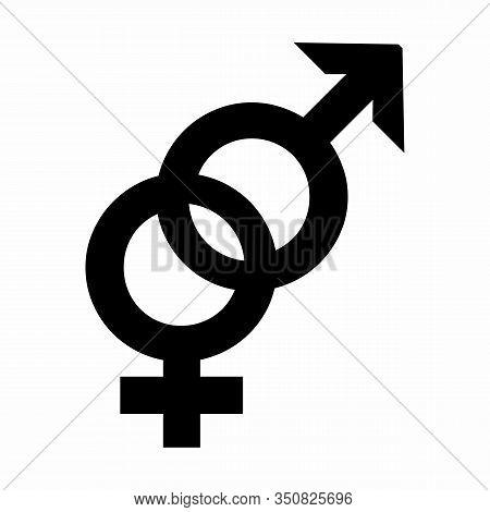 A Heterosexual Symbol Illustration On White Illustration