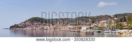 Panoramic View Of Limni Village, Euboea, Greece.
