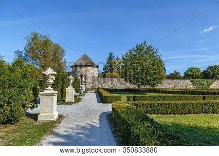 Cerveny Kamen Castle Is A 13th-century Castle In Southwestern Slovakia. Park