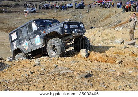 Off-road Car In Difficult Terrain