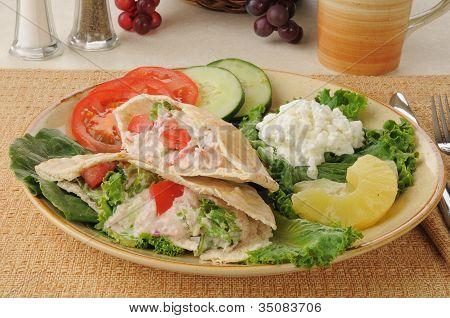 Tunafish Pita Sandwiches With Cottage Cheese
