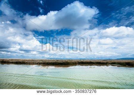 Beautifil nature of Titicaca lake near Puno, Peru, South America.