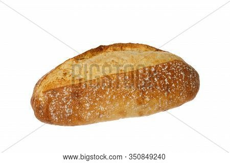 A Loaf Of Bread Isolated On White Background.