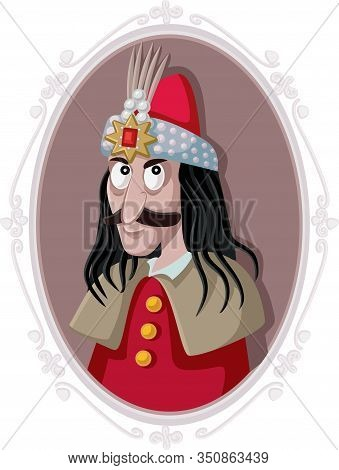 Vlad Iii Dracula The Impaler Tepes Vector Caricature