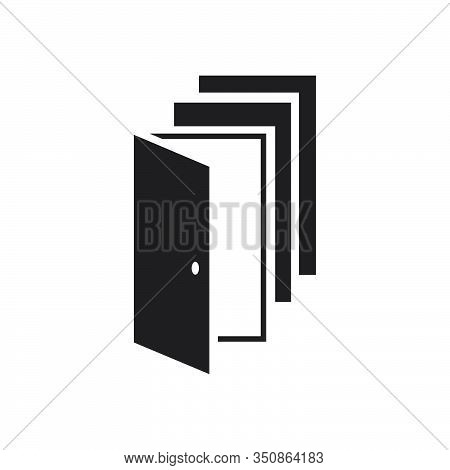 Overlapping Doors Logo Vector Design An Choices And Oportunity Concept