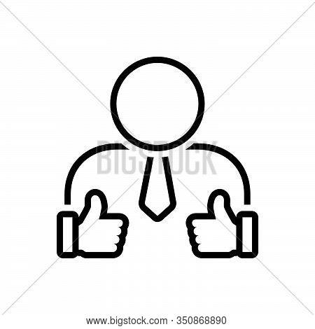 Black Line Icon For Appreciations Loyalty Gratitude Recognition Gratefulness Feedback Recognition Ap