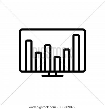 Black Line Icon For Financial-data Financial Data Commercial Economic Monetary Pecuniary Graphic Sta