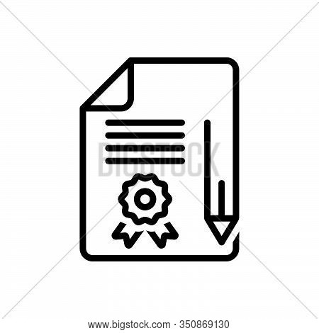 Black Line Icon For Legal-documents Legal Documents Agreement Contract Legal-paper Pleadings Justice