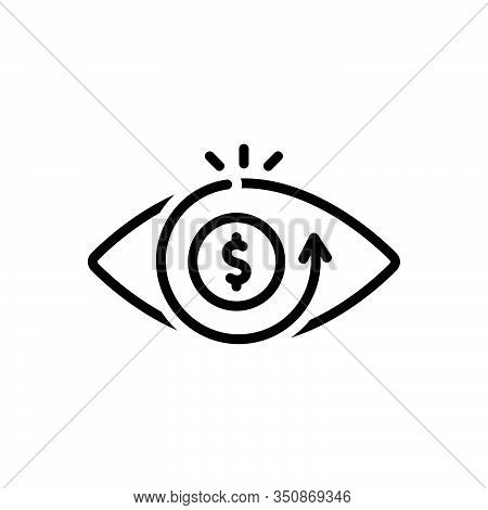 Black Line Icon For Vision Eyesight Perception View Eye Optics Sight Seeing