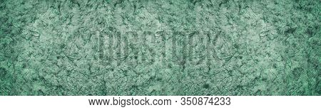 Green Textured Surface With Dark Streaks Abstract Widescreen Background