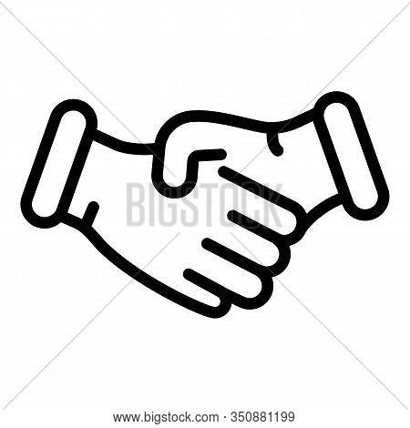 Divorce Handshake Icon. Outline Divorce Handshake Vector Icon For Web Design Isolated On White Backg