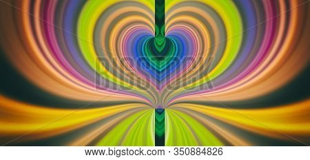 Abstract Background The Esoteric Aura Of Spiritual Enlightenment. Path To The Divine Beginning