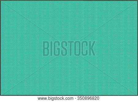 Knitted Pattern In Background Biscay Green.template From The Palette Of The Year Spring / Summer 202