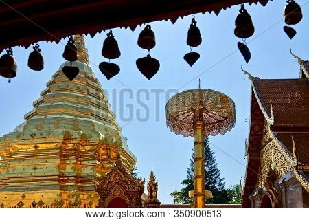 Wat Phra That Doi Suthep The Most Famous Buddhist Temple In Chiang Mai Known As The Golden Stupa (go