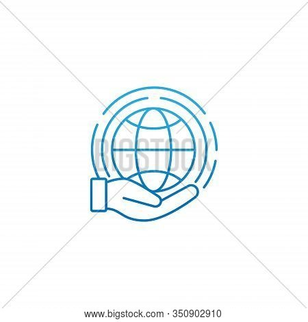 Globe. Globe icon. Globe vector. Globe icon vector. Globe logo. Globe symbol. Globe web icon. World vector. Globe with hand icon isolated on white background. Globe vector icon modern and simple flat symbol for website, mobile, logo, app, UI.