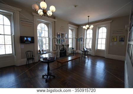 Chicago, Il February 14, 2020, Jane Addams Hull House And Museum Interior Room At The University Of