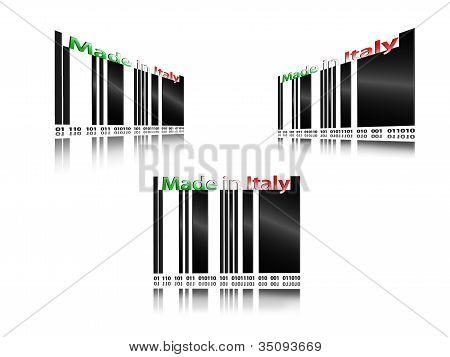 Código de barras made in italy