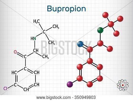 Bupropion, C13h18clno Molecule. It Is Used For The Treatment Of Major Depressive Disorder Mdd , Seas