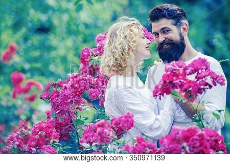 Beautiful Young Couple Kissing And Embracing. Beautiful Young Sensual Woman Love Affectionate Man. R