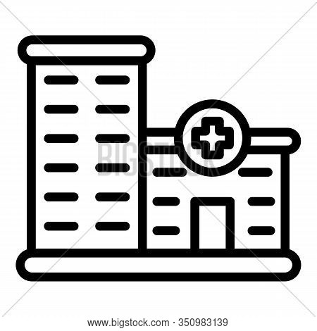 Private Clinic Building Icon. Outline Private Clinic Building Vector Icon For Web Design Isolated On