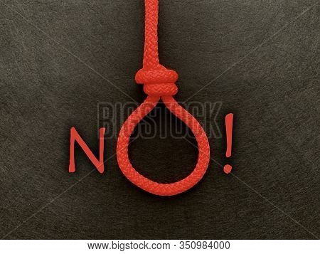 A Loop Of Rope With The Word
