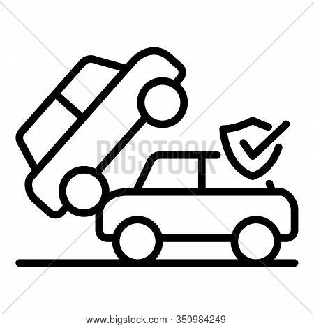 City Car Accident Icon. Outline City Car Accident Vector Icon For Web Design Isolated On White Backg