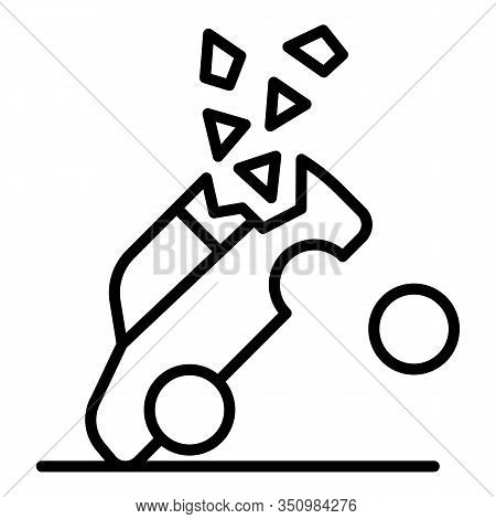 Car Accident Crash Icon. Outline Car Accident Crash Vector Icon For Web Design Isolated On White Bac