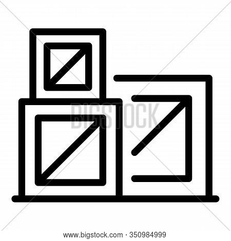 Reconstruction Boxes Icon. Outline Reconstruction Boxes Vector Icon For Web Design Isolated On White