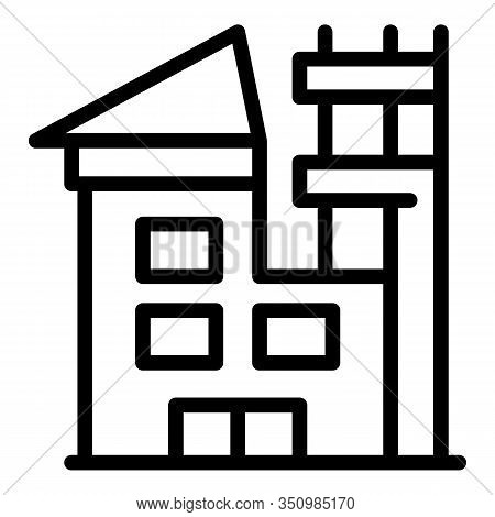 Roof House Reconstruction Icon. Outline Roof House Reconstruction Vector Icon For Web Design Isolate