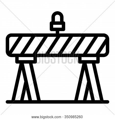 Road Barrier Icon. Outline Road Barrier Vector Icon For Web Design Isolated On White Background
