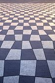 Pavement floor surface with geometric dual tone pattern poster