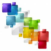 Abstract background with transparent colored squares. Eps 10. poster