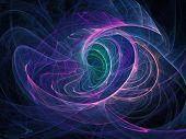 ear of swirl rays on dark background poster