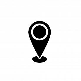 Save Download Preview Location Pin Icon Vector On White Background. Map Pointe Icon, Navigation Icon
