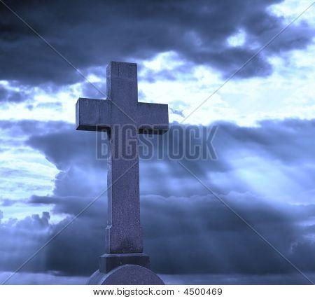 Cross Over Cloudy Sky