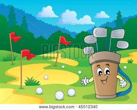 Image with golf theme 2 - eps10 vector illustration.