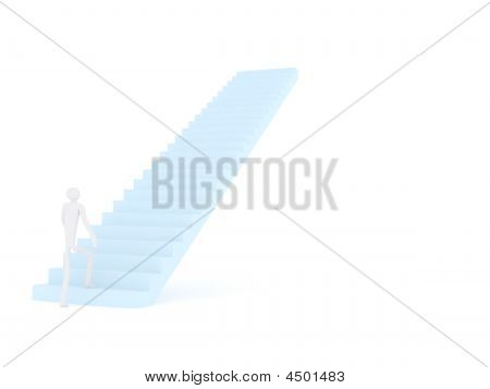 3D_man_on_a_stairs