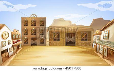 Illustration of the different business establishments