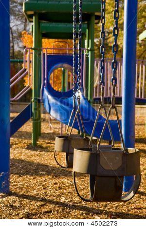 Swings On Blue Play Set