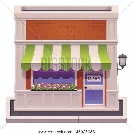 Vector small shop icon