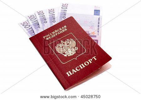 Russian International Passport And Euro Money