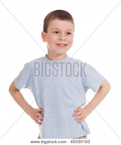 boy portrait isolated on white