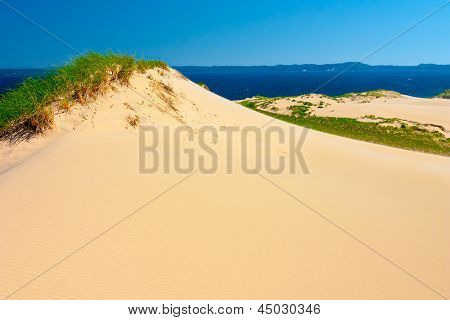 Sleeping Bear Dunes At Lake Michigan.