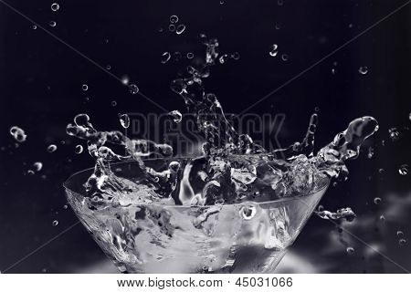 Splashes In Martini Glass