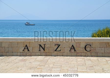 Anzac Cove Memorial In Canakkale Turkey