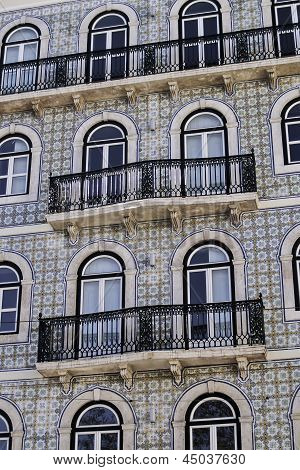 Glazed Tile Facade And Balconies