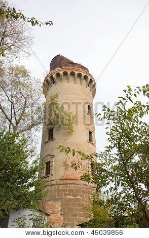 Old Water Pump Tower In Korosten, Ukraine